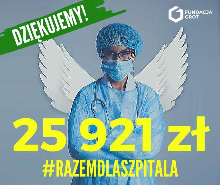 Fundacja GROT zebrała dla szpitala prawie 26 tys.zł!