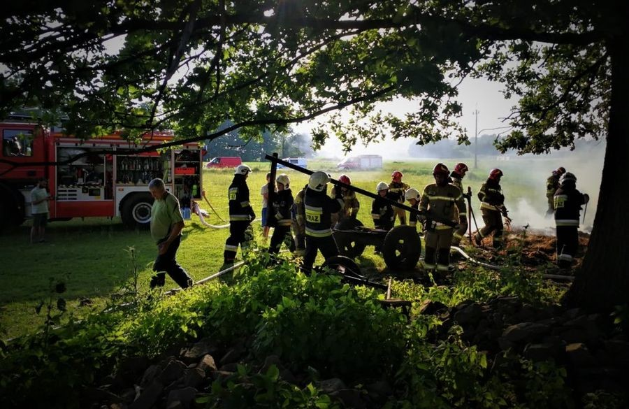 Świadek Zaalarmował Strażaków
