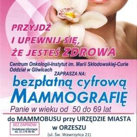 Badania mammograficzne w Orzeszu
