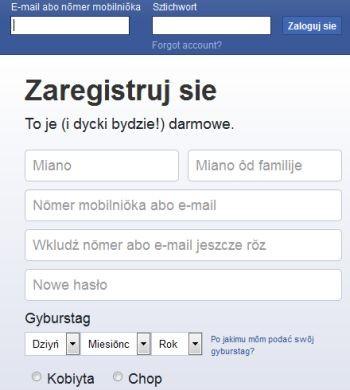 Facebook po naszymu!