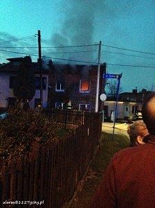 Pożar przy ul. Rybnej w Tychach