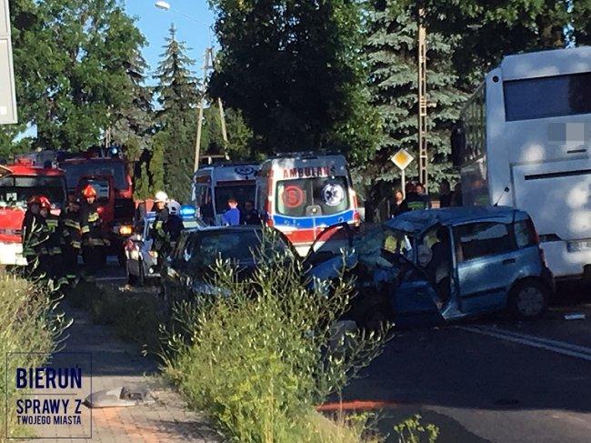 Śmiertelny wypadek na DK44 w Bieruniu