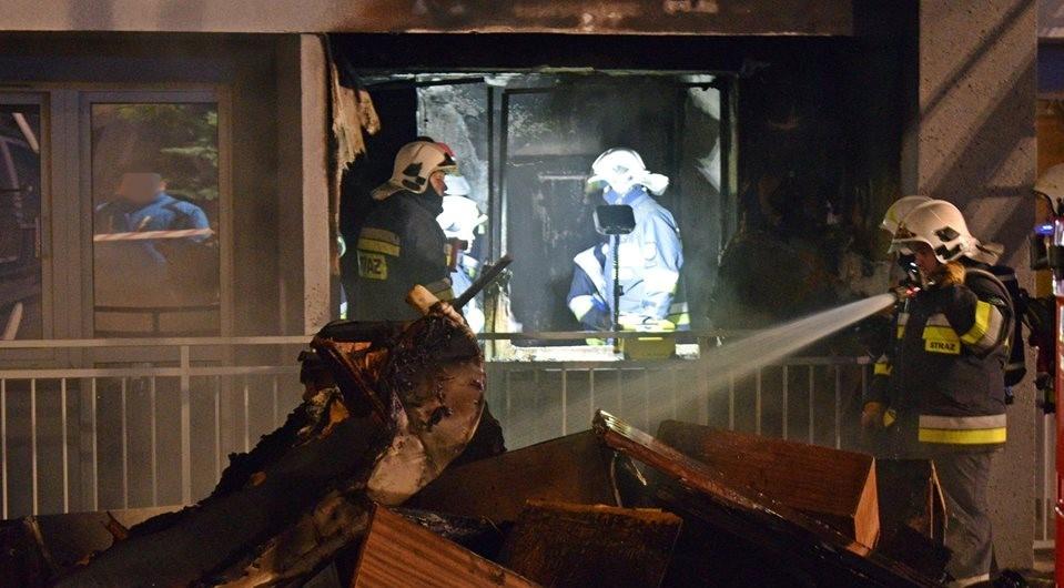 Pożar w Bieruniu: 7 osób w szpitalu