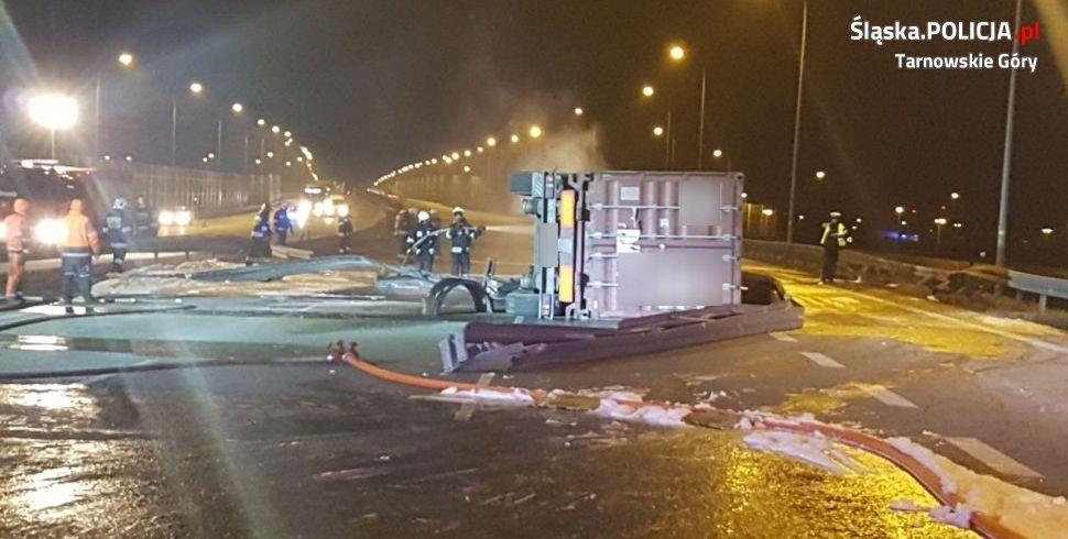 Ciężarówka Przewróciła Się I Zapaliła - Znamy Przyczyny